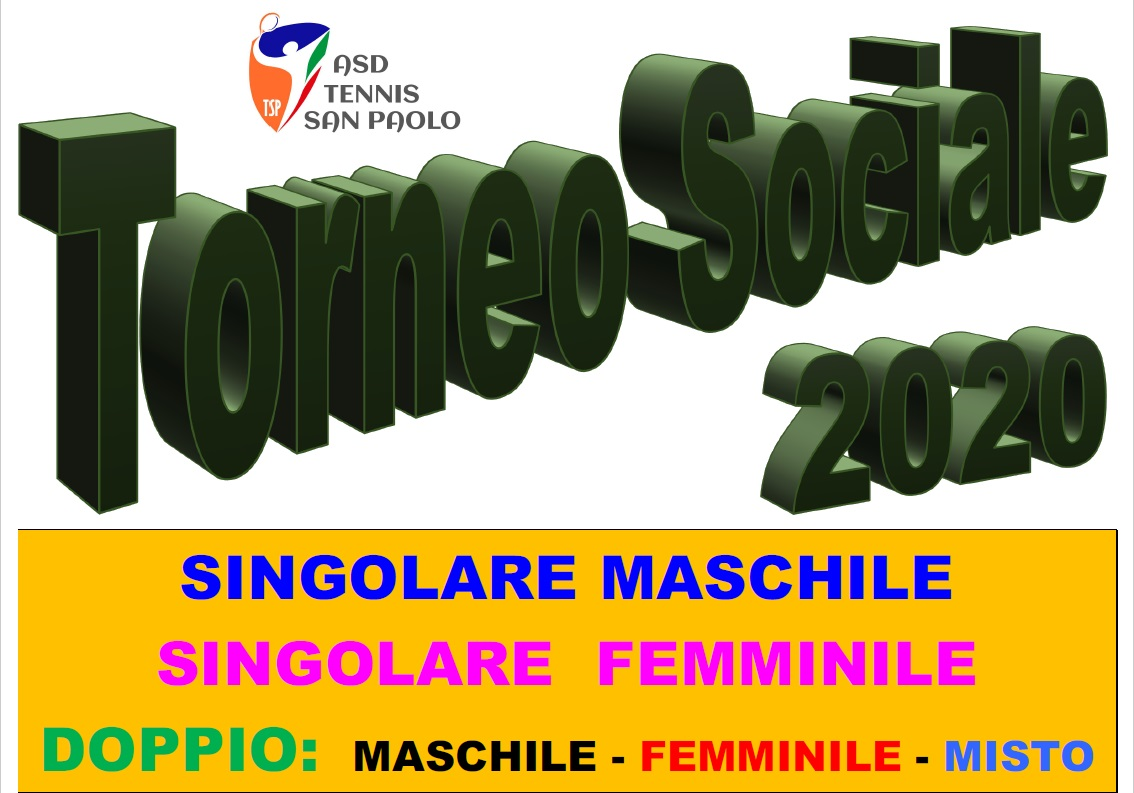 TORNEO SOCIALE 2020